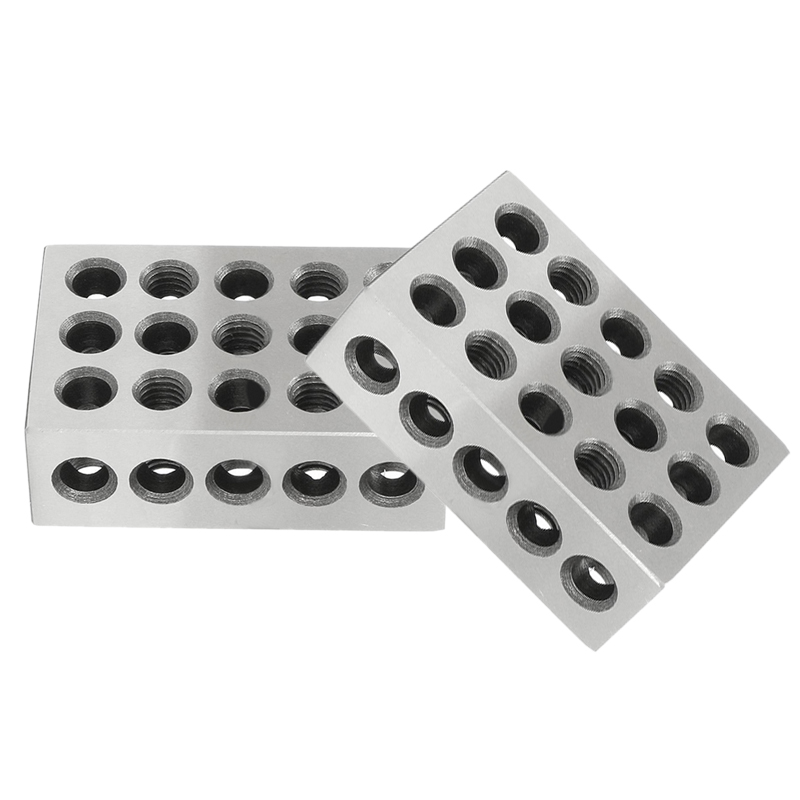 2pcs 23 Holes Precision Blocks 0002 Accuracy Engineers 2.5 x 5 x 7.5cm Mayitr For Hardened Milling Tool labview for engineers