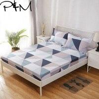 Papa & Mima с геометрическим принтом, современный стиль, защитная подушка для кровати, 100% хлопок, ткань, простыня, многоразовый чехол для матраса