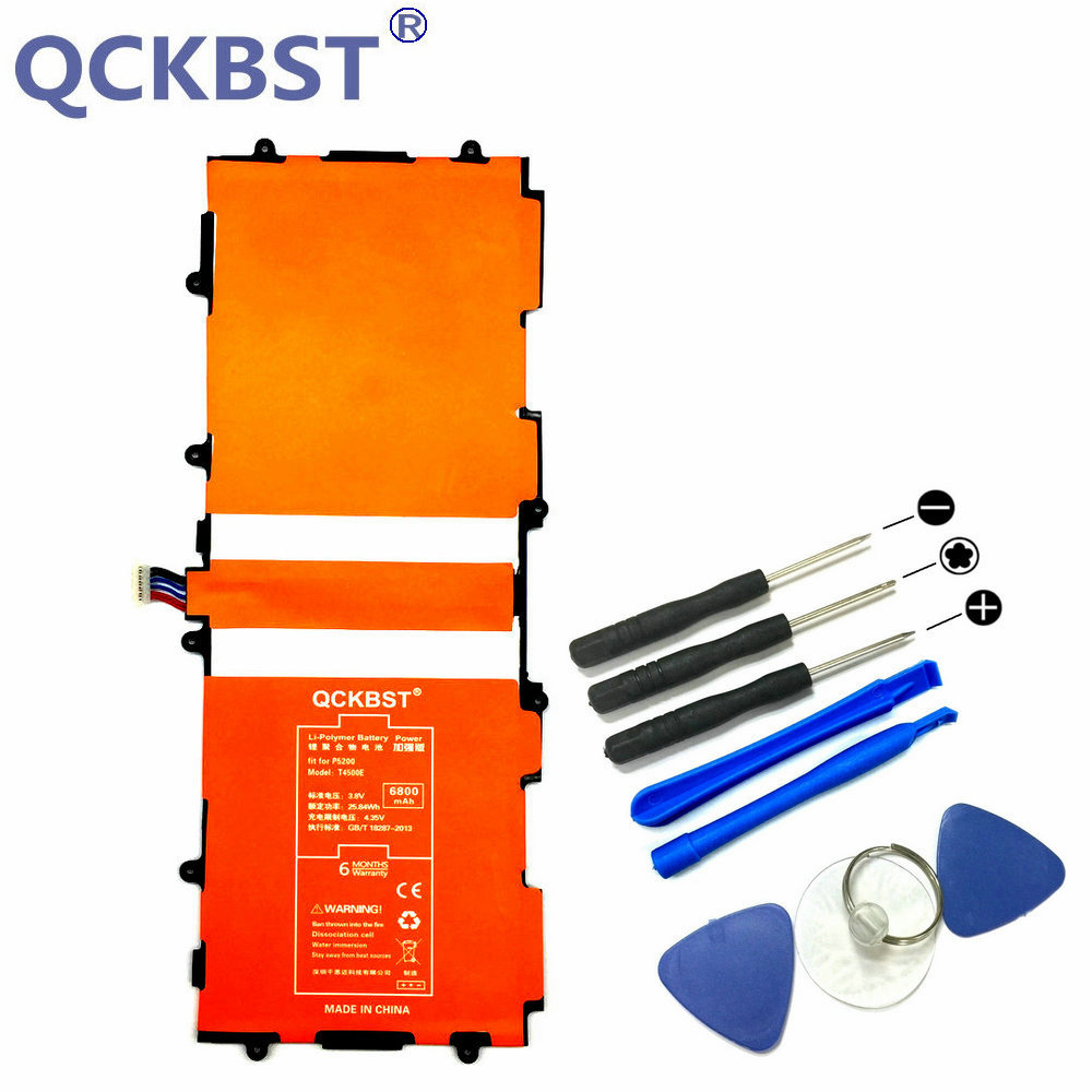 QCKBST T4500E Replacement 6800mAh Battery Bateria For Samsung GALAXY Tab 3 10.1 P5200 P5210 GT-P5200 GT-P5210