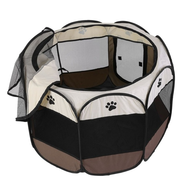 Portable Outdoor Detachable Folded Folding Waterproof Octagonal Pet Dog Cat Kennel Puppy Fence Oxford Tents Cage NEW 1