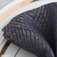 Салфетки Синий Западный складной тканевый бытовой роскошный квадратный полотенце салфетка настольная салфетка