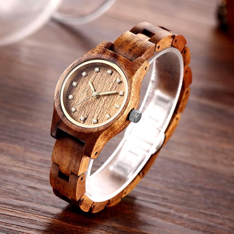 New Design Women Brown Wooden Watch Luxury Brand Top Gift 2