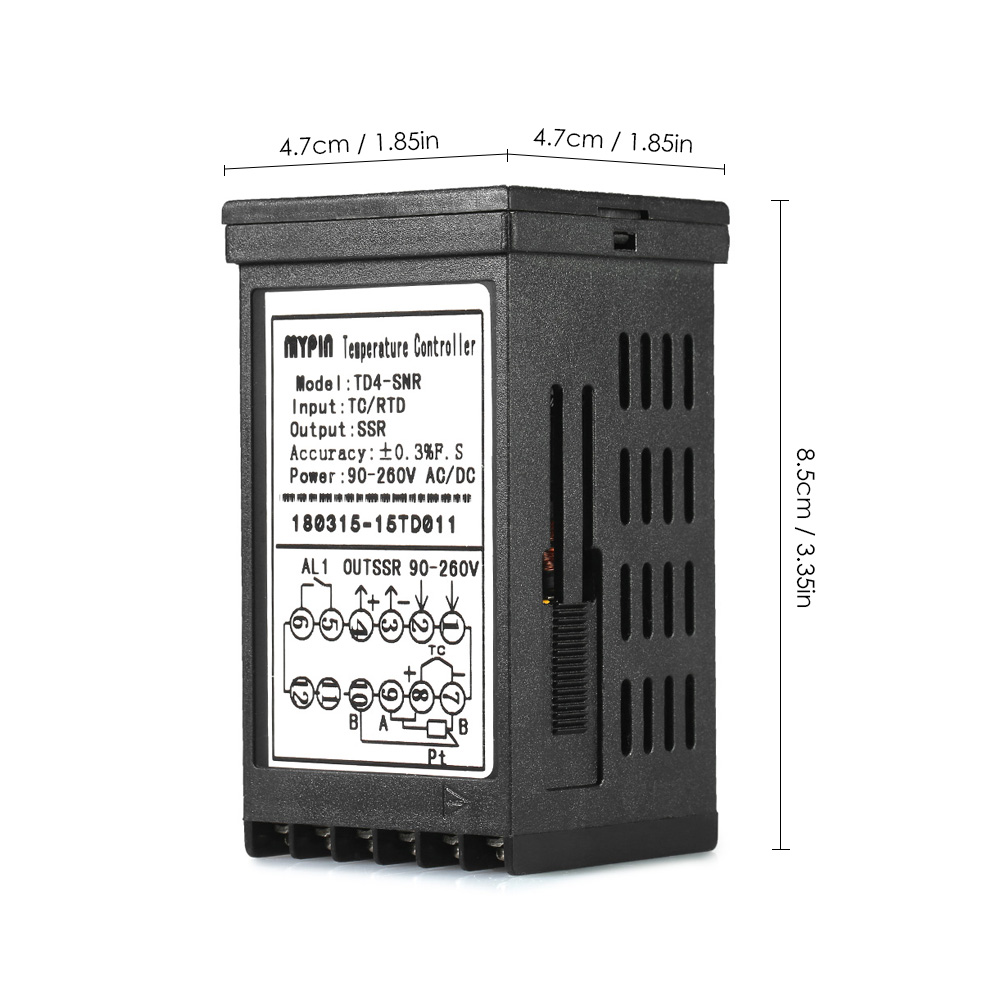 hight resolution of manual automatic thermometer digital led pid temperature controller snr 1 alarm relay output tc rtd input in temperature instruments from tools on