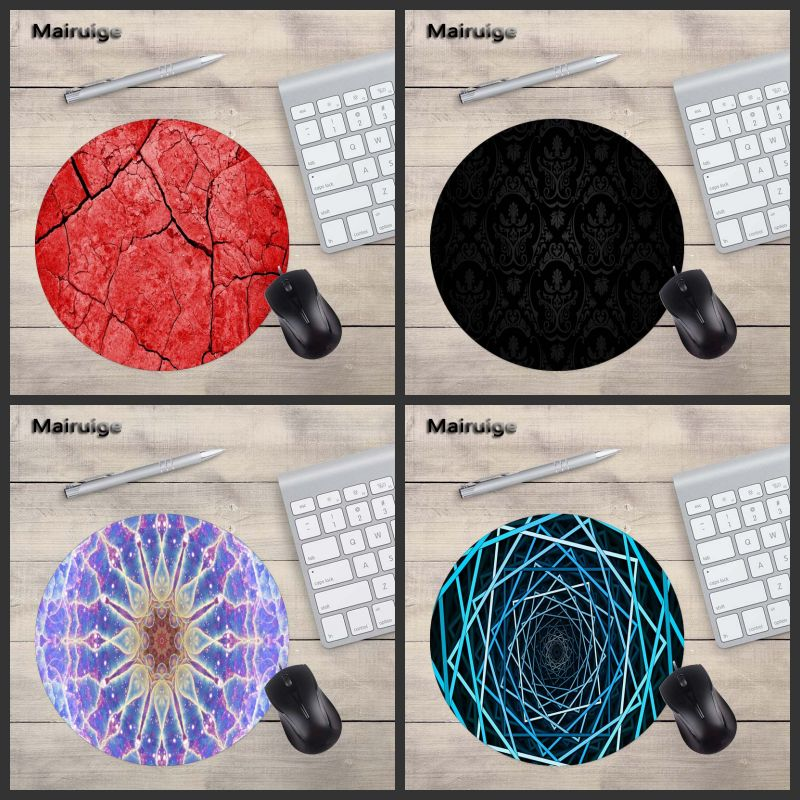 Mairuige Phantoscope Lifelike Pattern Round MousePad Laptop 200X200MM Size PC Game Home Decoration Gift Gamer Speed Version Mats