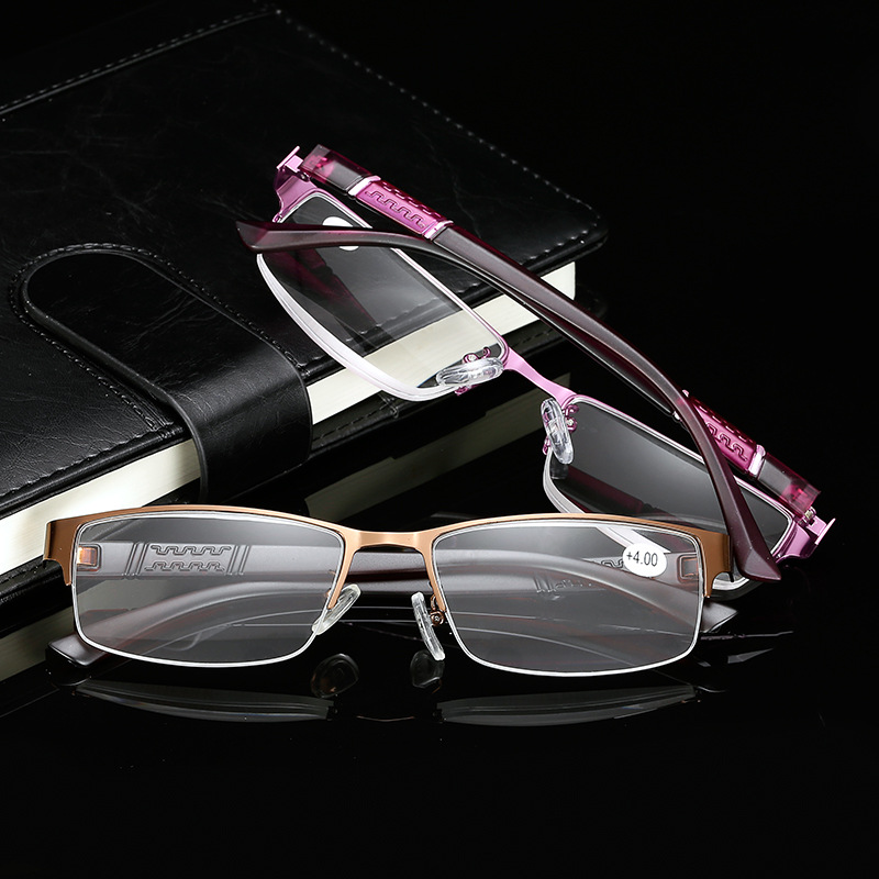 KESMALL New Brand Designer Reading Glasses Men Fashion Retro Light Reader Glasses Old People Eyeglasses Occhiali Lettura XN785