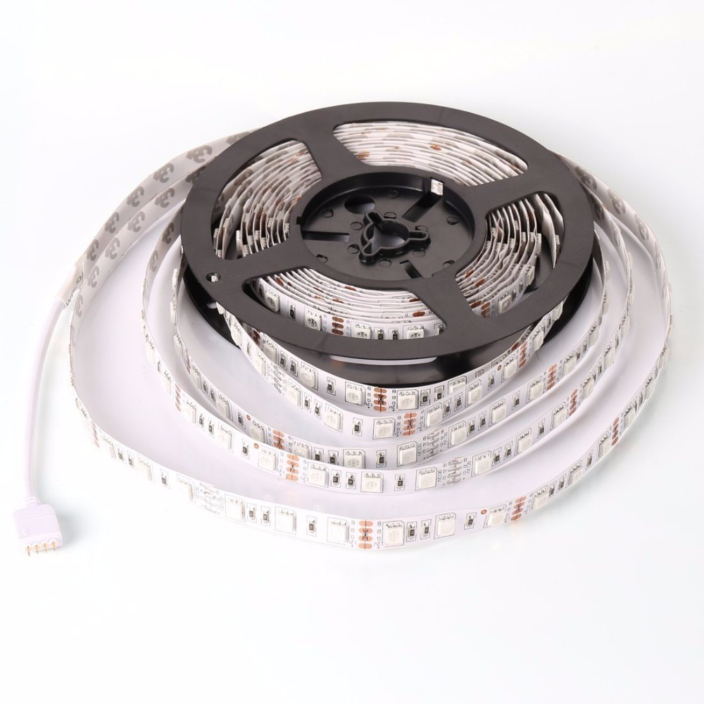 LED Strip 5050 DC12V LED strip flexible light Non-waterproof 60 led/m,5m RGB LED strip 5050 Fite de,White/warm white/R/G/B