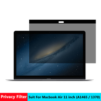 AIBOULLY Magnetic Privacy filter Screens Protective film for Macbook Air 11 inch For Apple laptop model number A 1465 / A1370