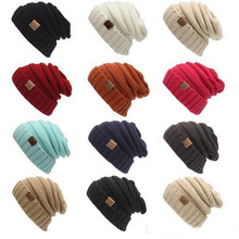 88f050374dd New men women hat CC Trendy Warm Oversized Chunky Soft Oversized Cable Knit  Slouchy Beanie 12