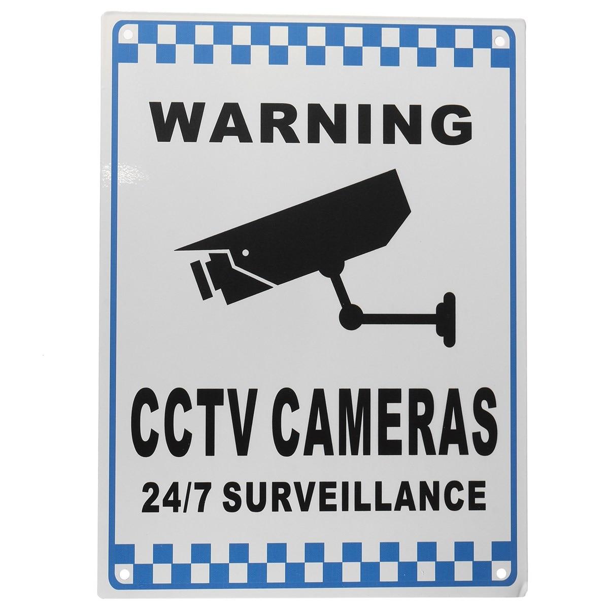 Safurance CCTV Warning Security Video Surveillance Camera Safety Sign Reflactive Metal Home Security