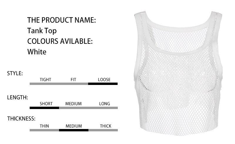 4fe0eef79f6 2019 Realpopu Fitness Tank Top Outwear White Smock Plus Size Mesh ...