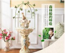 Гостиной фонтан Европейский ангел украшена Творческий Waterscape большие увлажнитель свадебный подарок.