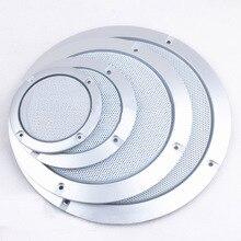 """Для """" /4""""/"""" /6,5""""/"""" /10"""" дюймовый звуковой динамик конверсионная сетчатая Крышка декоративный круг металлическая сетка решетка защита# серебро+ белый"""