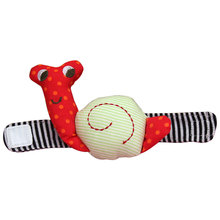 Brand Infant Baby toys plush Wrist Watchs Cute Snail baby soft Hand Rattles Finders Toys WJ034