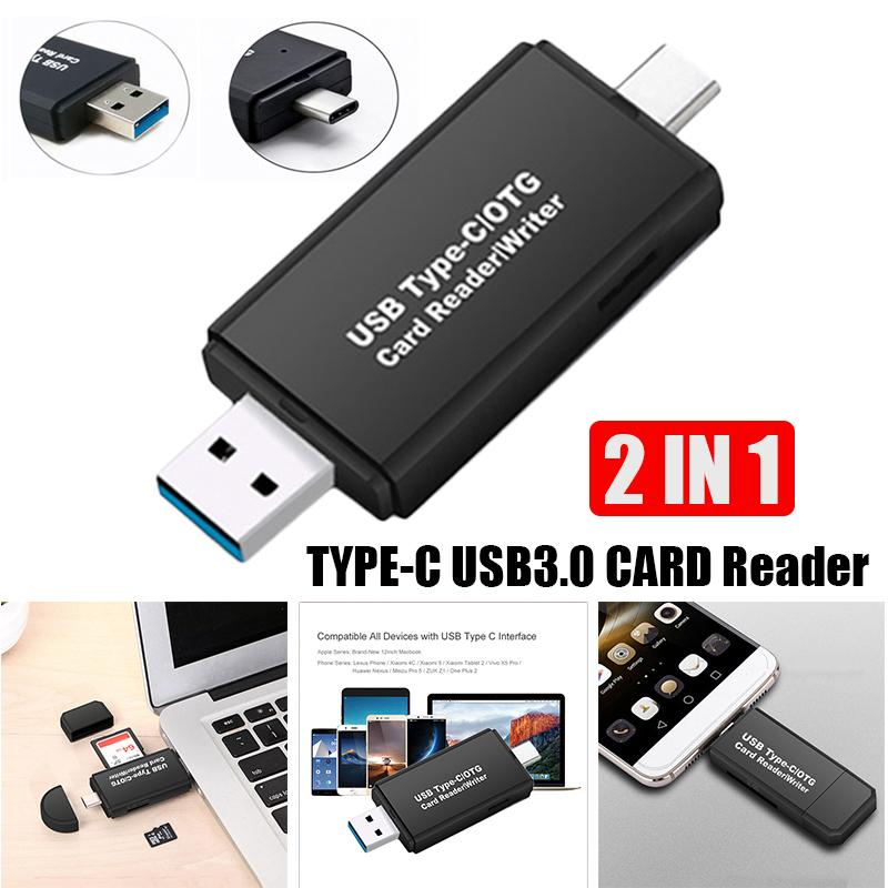 Type-C Card Reader USB 3.0 Micro SD TF Multi Memory Card Reader Smart 2In1 Multifunctional Mobile Phone OTG