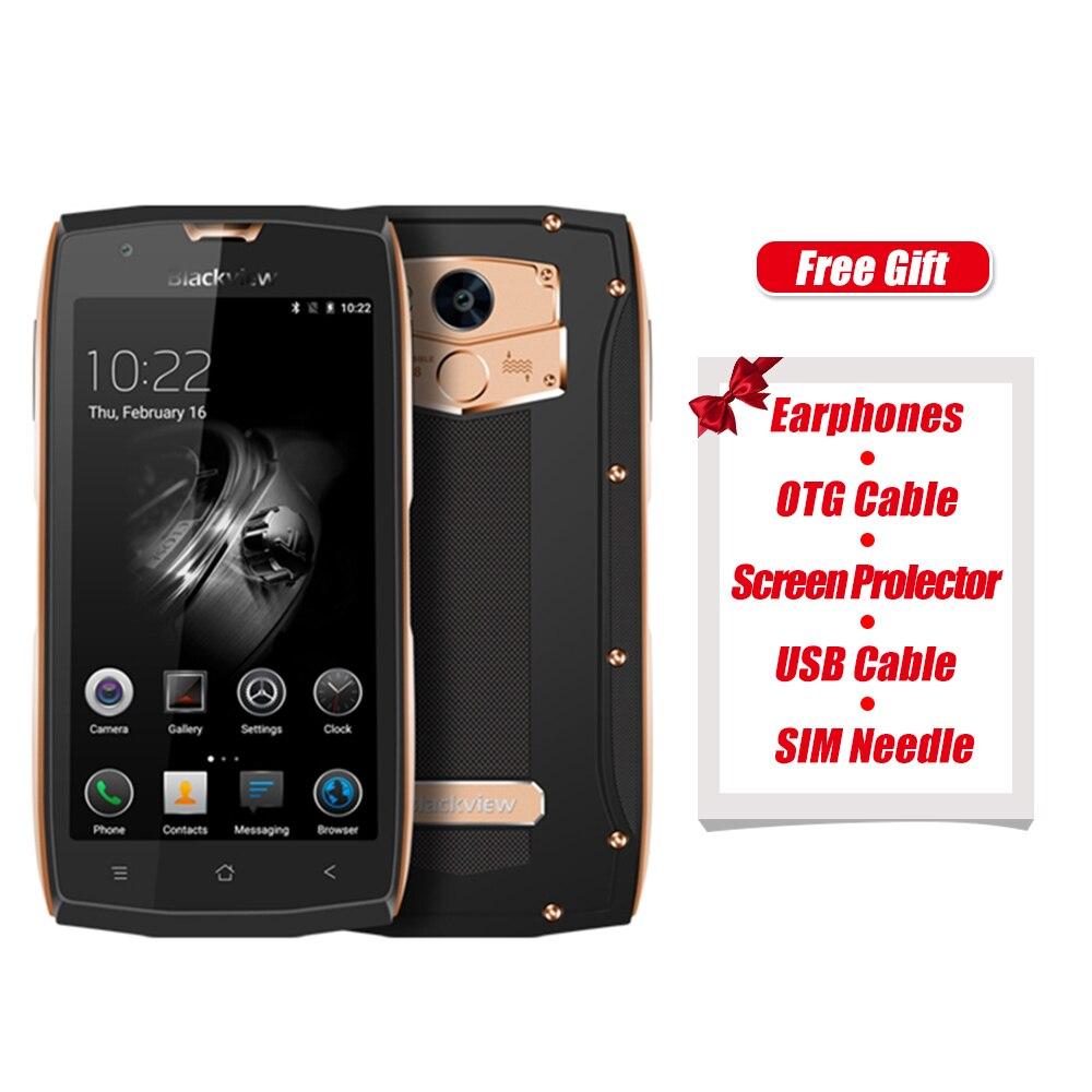 Оригинал Blackview <font><b>BV7000</b></font> Pro 4 г 5.0 дюймов Android 6.0 MTK6750 1.5 ГГц Octa core 4 г + 64 г <font><b>IP68</b></font> Водонепроницаемый 8.0MP + 13.0MP смартфон