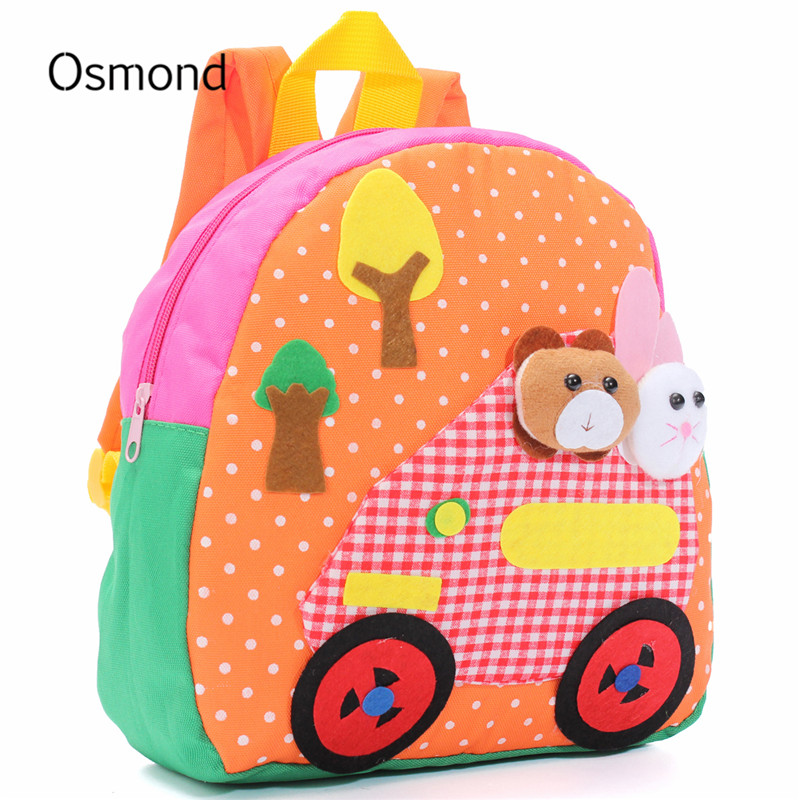 osmond good quality canvas school bags for kid small little baby kindergarten bags animal girl cartoon fabric childrens backpack - Small Childrens Images