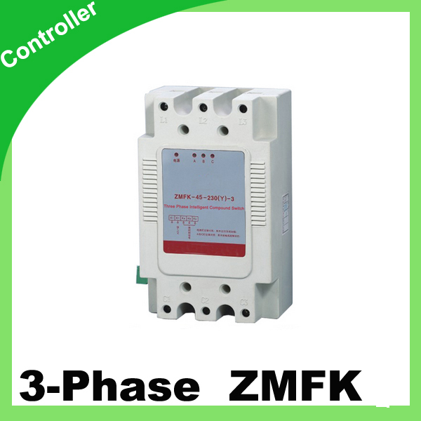 ZMFK Three phase Intelligent composite switch with thyristor controll 380v 45kvar control capacitor capacity beroun hs650 10kw three phase 380v single phase 220v power remote control thermostat temperature control switch