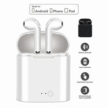 I7s Tws Bluetooth Headset Nirkabel Earphone Olahraga Headphone dengan Mikrofon untuk Ponsel Iphone Samsung PK I9 I11 I14 I20(China)
