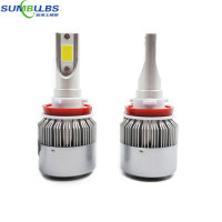 Sumbulbs C9 H11 H8 H9 Car LED Headlight Bulbs 72W 7600LM CREE Chip All In One