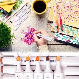 Image 5 - Profesyonel sanat belirteçleri ipuçları TOUCHNEW 30/40/60/80/168 renk sanat çizim/boyama Manga İşaretleyiciler alkol taban kroki işaretleyici kalem