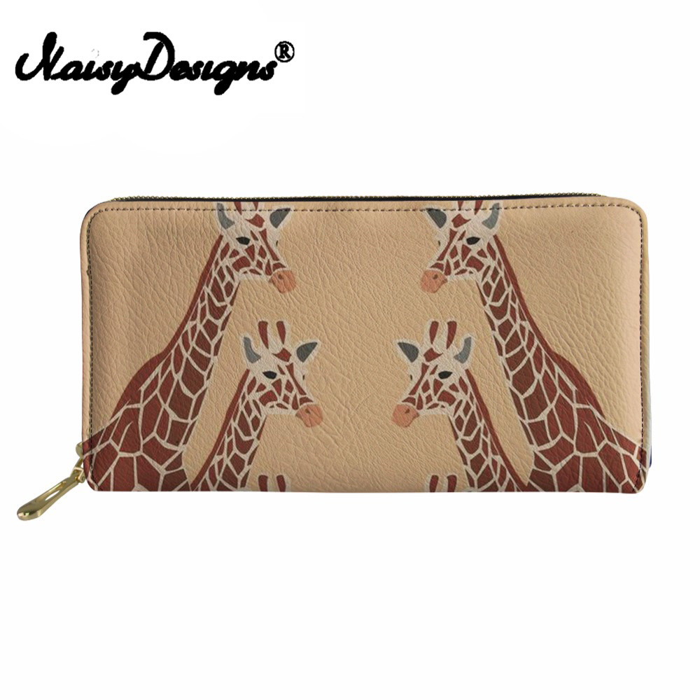 Noisydesigns Large Capacity Giraffe Women Wallets Ladies cute Cluth Party Purse for Credit Card Females Long Phone Money Wallet