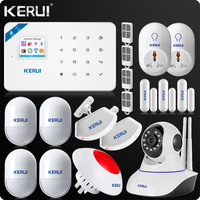 2017 KERUI W18 WIFI GSM SMS Home Burglar Security Alarm System Russian English Voice Wifi IP