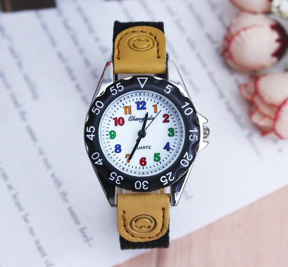 2018 New Fashiong CYD Cute Boys Girls Quartz Watch Kids Children's Fabric Strap Student Time Clock Wristwatch Gifts