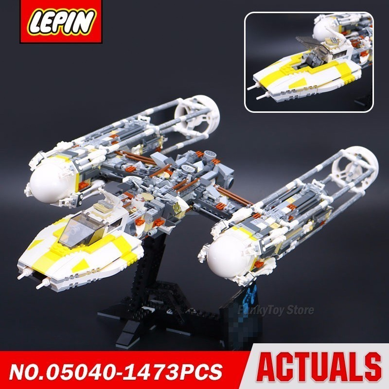 Lepin 05040 Y Wing Attack Fighter 10134 Star Series Wars Model Building Block Brick Kits Compatible Assembling Gift Toys new lepin 22001 pirate ship imperial warships model building kits block briks toys gift 1717pcs