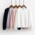 Otoño Casual Colegio Viento hermana suave en forma de corazón encantadora manga patrones de bordado de color sólido camiseta floja para niñas