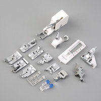15 Piece Low Shank Foot for Sewing Machine Presser Feet Set Walking Foot Kit