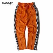 Colorblock Plaid Track Pants Men and Women Hip Hop Double Side Striped Plaid Sweatpants Streetwear Mens Fashion Casual Pants