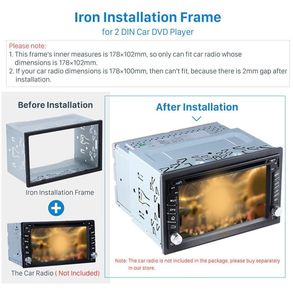 Image 4 - 2Din Fittings Kit Radio Head Unit Installation Frame General 2Din Fittings Kit Automotive Radio Player Box