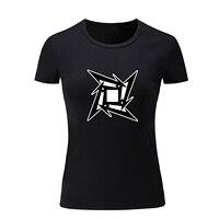 Pesada Banda de Rock Metallica James Hetfield Thrash Metal Camiseta Corta de Las Mujeres Señoras de la Muchacha de La Camiseta de la Aptitud de Algodón Tee Punk Tops
