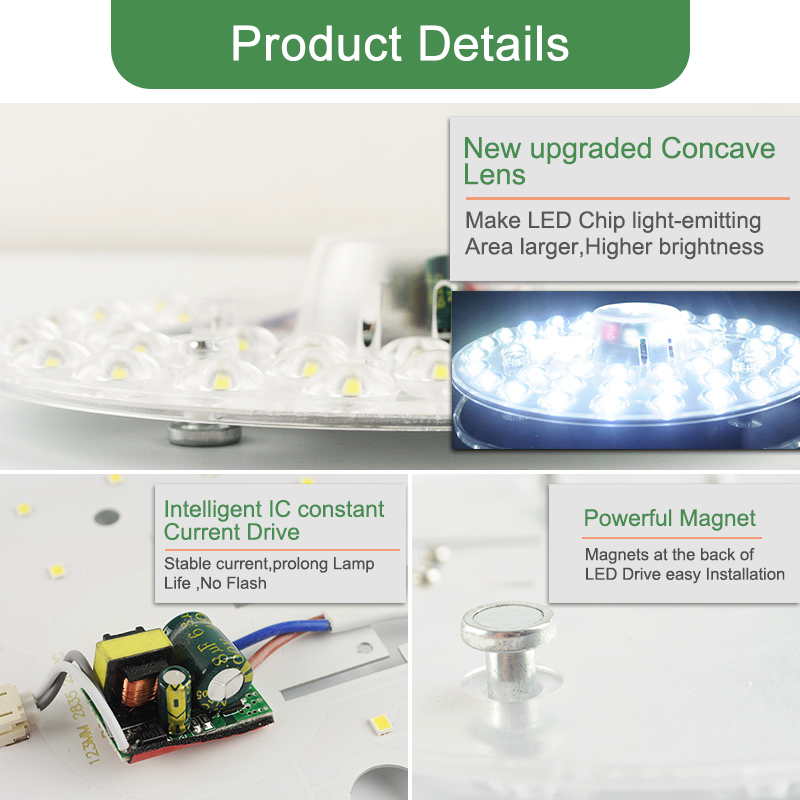 Kaguyahime Long Life LED Module 12W 18W 24W LED Panel Ceiling Light Lamp Replace Accessory Magnetic Kaguyahime Long Life LED Module 12W 18W 24W LED Panel Ceiling Light Lamp Replace Accessory Magnetic Source Light Board Bulb 220V