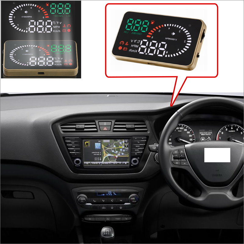 Car HUD Head Up Display For Hyundai I20 I30 IX25 IX35 Accent Solaris Santa Fe- Safe Driving Screen Projector  / OBD II Connector hyundai accent hatchback ii бу москва