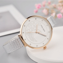 Moon Pattern Women Watch Ladies belt Leather Fine Strap Ultra-thin Clock Quartz Diamond Casual Female Wristwatch Montre Femme