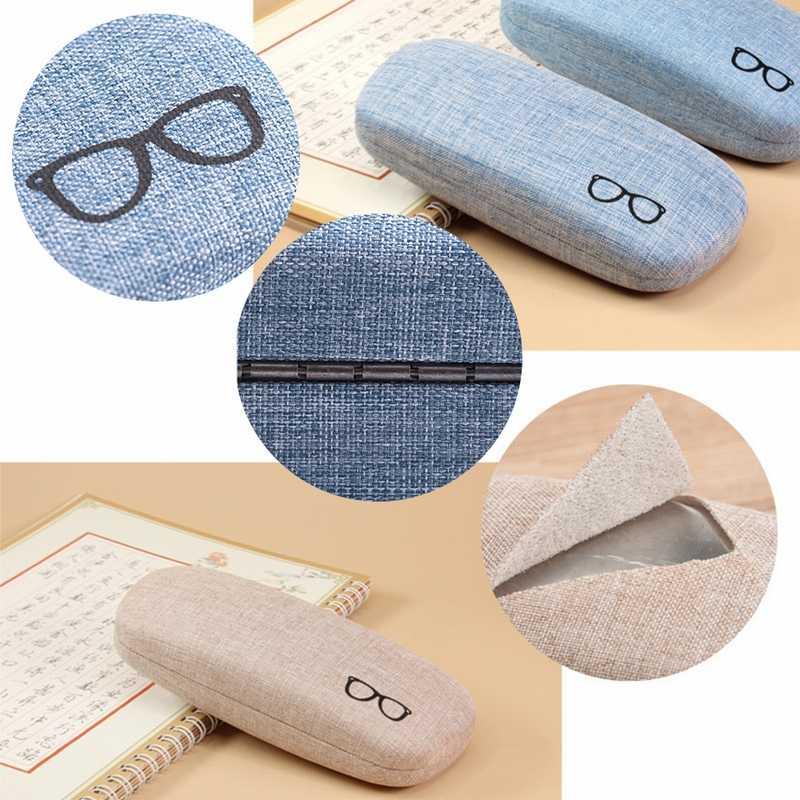 Urijk 1 PC Caso Estilo Fresco Óculos de Leitura Retro Linho Rígidos Eye Glasses Óculos Caixa Caso de Escudo Duro Protetor