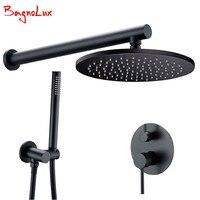 Латунный черный душевой набор для ванной комнаты кран Потолочный или настенный душевой рычаг переключатель Миксер ручной набор распылител