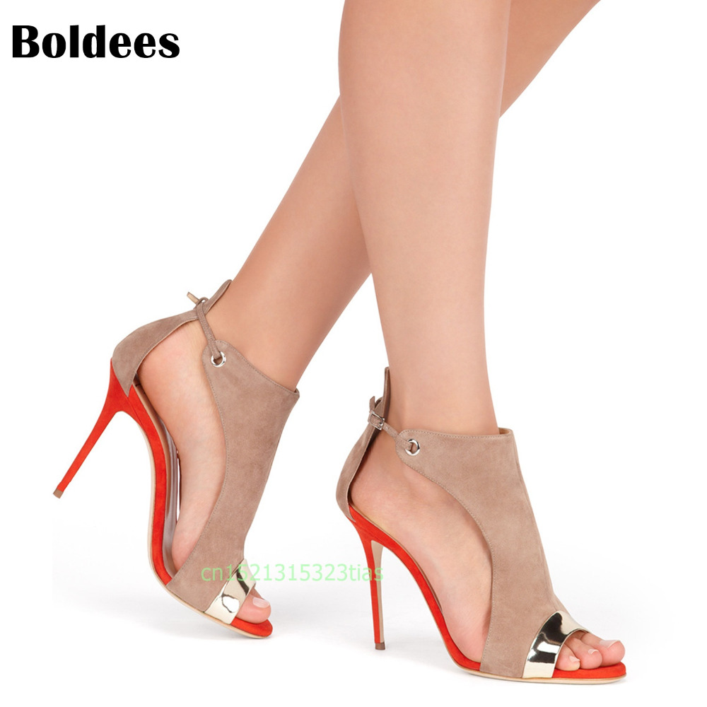 Boldees Roman Buckle strap Shoes Women Sandals sexy Gladiator Lace up peep toe sandals high heels Woman Ankle boots utilization of fly ash in mine stowing