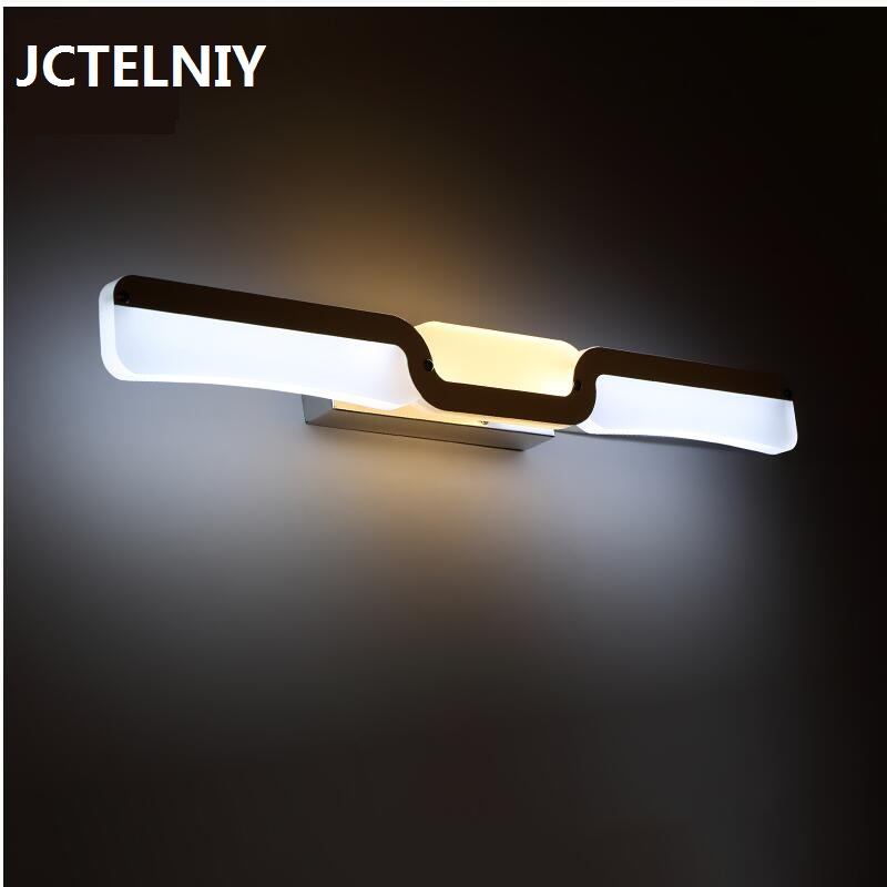 Mirror light led waterproof antimist bathroom mirror glass wall lamp nordic brief modern mirror cabinet lamp led lighting modern led bathroom light stainless steel led mirror lamp dresser cabinet waterproof sconce indoor home wall lighting fixtures