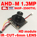 Read big sale!hd 2500tvl Finished Monitor mini camera chip module 1/4CMOS adh-m 1.3Mp 12/8/6mm optional 3.0mp lens IR-CUT