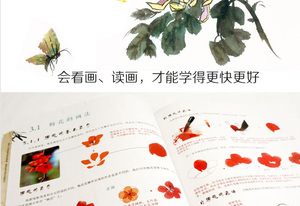 Image 4 - 128 pages Traditionele Chinese Schilderen Boek Voor Pruim bloesems, orchidee, bamboe en chrysant Borstel Schilderen libros 28.5X21 cm