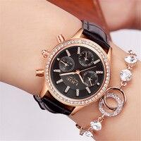 LIGE Frauen Uhren Marke Luxus Mädchen Diamant Zifferblatt Goldenen Leder Damen Geschenk Uhr Frauen Kleid Uhr Kalender relogio feminin