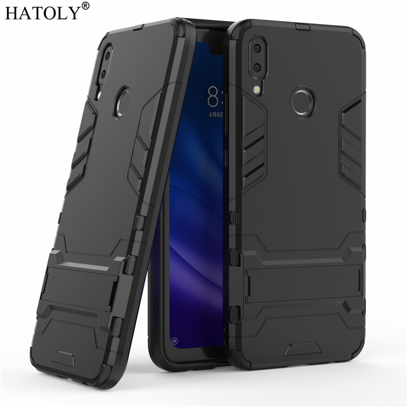 HATOLY Armor Case Huawei Y9 2019 Case Shockproof Robot Silicone Rubber Hard Back Phone Cover For Huawei Y9 2019 Y 9 2019 6.5