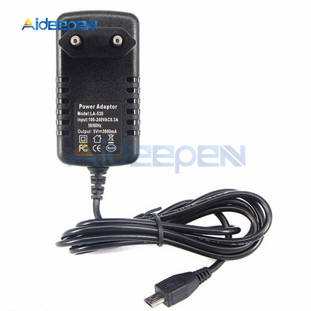 100-240V AC to DC Power Adapter Supply Charger Adapter 5V 3A EU Plug for Switch LED Strip Lamp