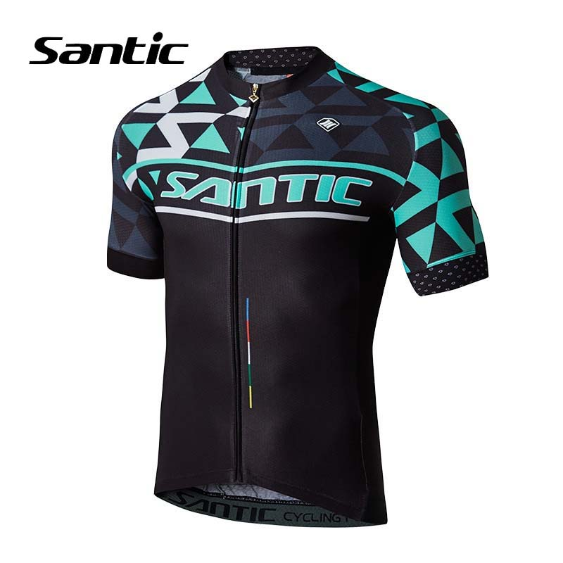 Santic Summer Cycling Jersey Men Short Sleeve Mountain Road Bike Jersey Breathable MTB Bicycle Top Shirt Jersey Maillot Ciclismo