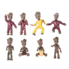 Baby Groot Boom Man Grootted Action Figure Sleutelhanger Hanger Auto Deur Sleutelring Speelgoed Party Gift(China)