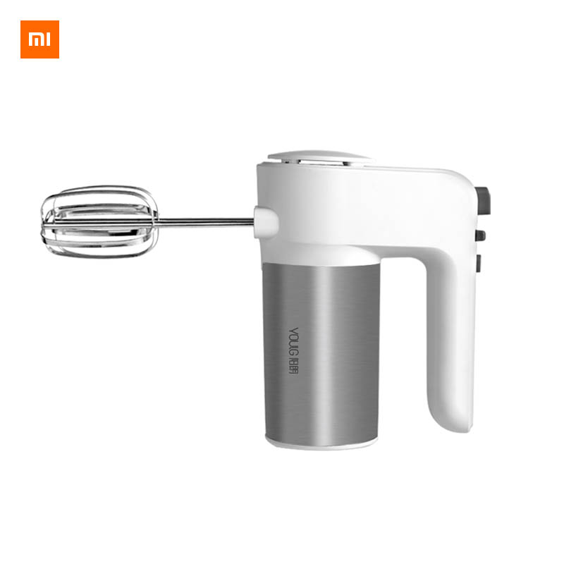 Xiaomi Mijia YOULG Egg Beater 6 Speed Control Egg Milk Flour Drink Electric Blender Used In