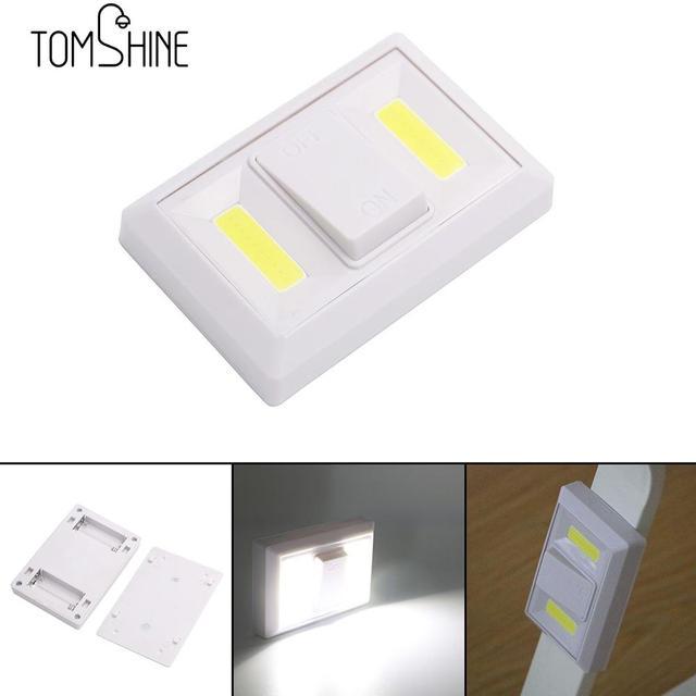 New Switch Night Light Double Cob Bedroom Bathroom Lamp Wardrobe Closet Home Super Bright