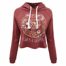 Fashion Womens Casual Loose Long Sleeve Print Hoodie Sweatshirt Autumn Winter Hot Sexy Short Tops